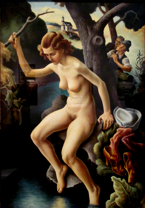 Thomas Hart Benton Sussana and the Elders