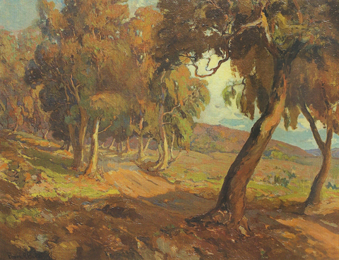 In the Gold the Sloping Vale Subsides Franz Bischoff
