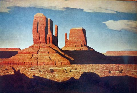 Conrad Buff Mittens Monument Valley pictured in Painters of the Desert