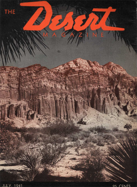 Desert Magazine Cover July 1940