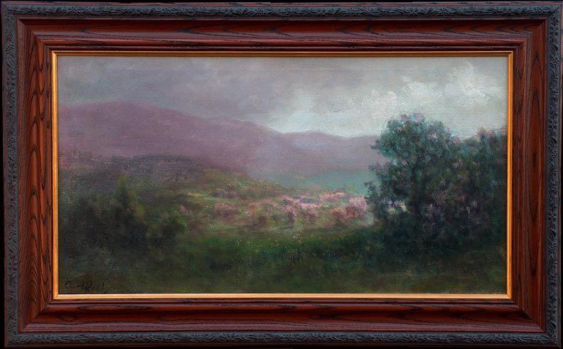Carl Dahlgren California Vista with frame