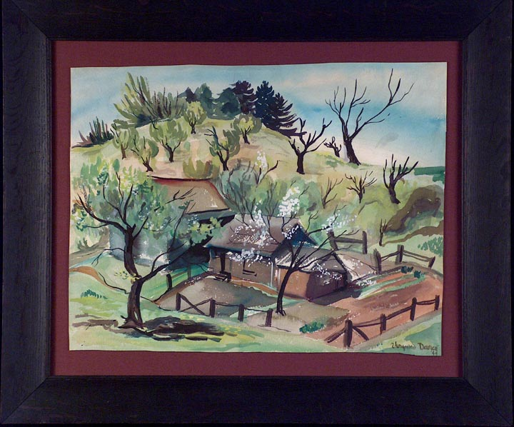 Virginia Darce Spring Landscape 1944 with Frame