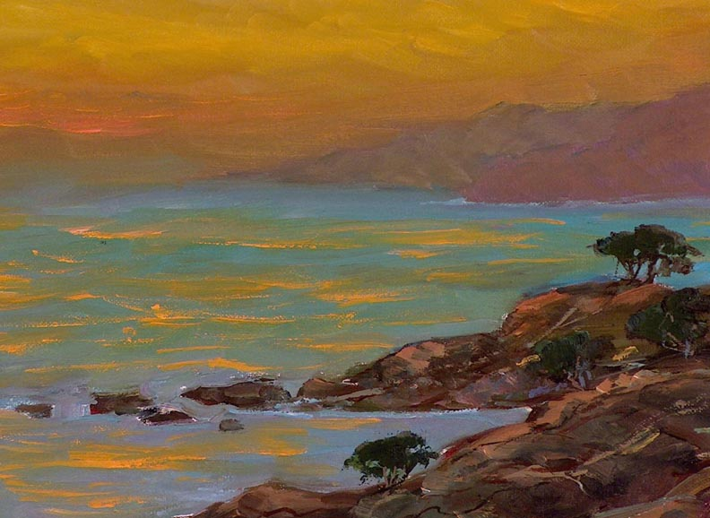 Alex Dzigurski II Sonoma Coast Sunset Closeup