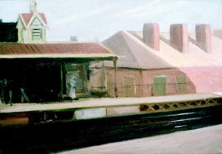 Edward Hopper the El Station