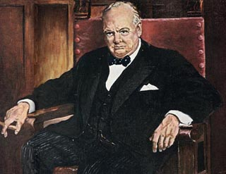Eisenhower's portrait of Winston Churchill