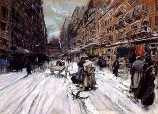 Everett Shinn The Streets of New York
