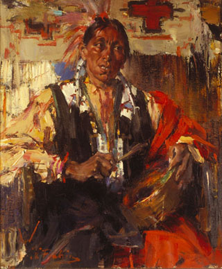 Nicolai Fechin Joe with a Drum