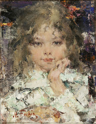 Nicolai Fechin Portrait of a girl