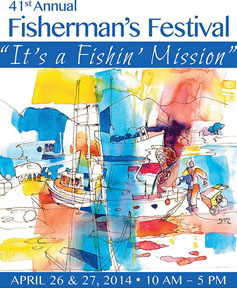 2014 Fish Fest Poster Artwork by Jean Warren