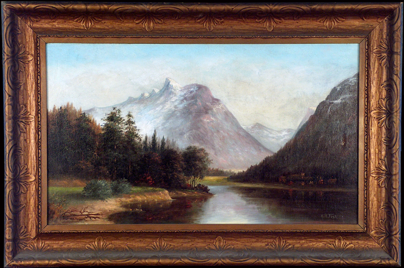 Henrietta Riddle Fish Yosemity Valley Chapel with Frame