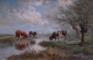 Hgo Anton Fisher Cattle grazing in expansive landscape