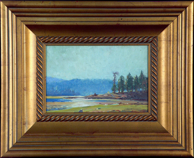 Victor Clyde Forsythe River Reflection with Frame