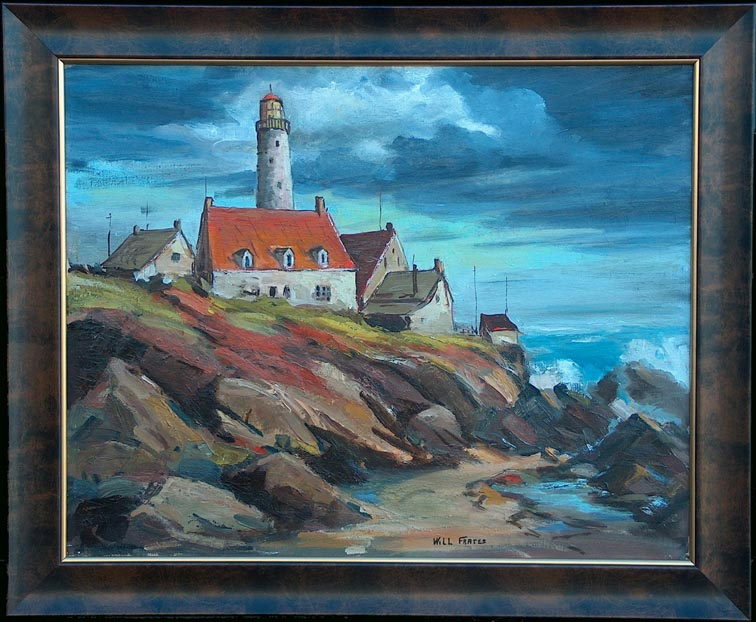 Will Frates Portland Head Light with Frame