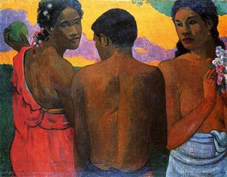 Paul Gauguin Three Tahitians 1899