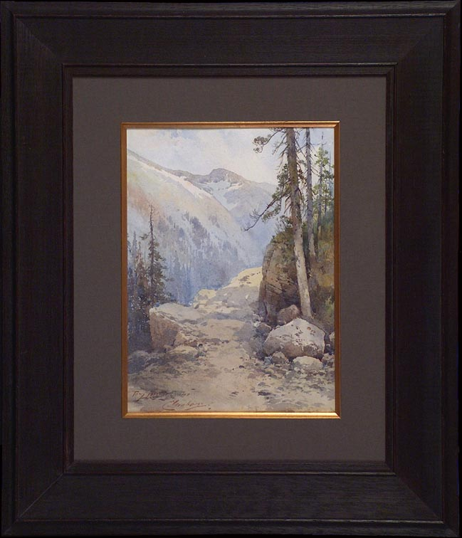 Charles Graham Mountain Path and Conifers with Frame