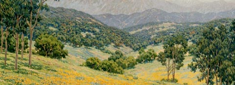 California Landscape with Flowers, Irivine Museum