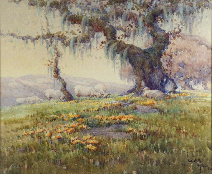 Grace Allison Griffith Grazing Sheep Sonoma 1924
