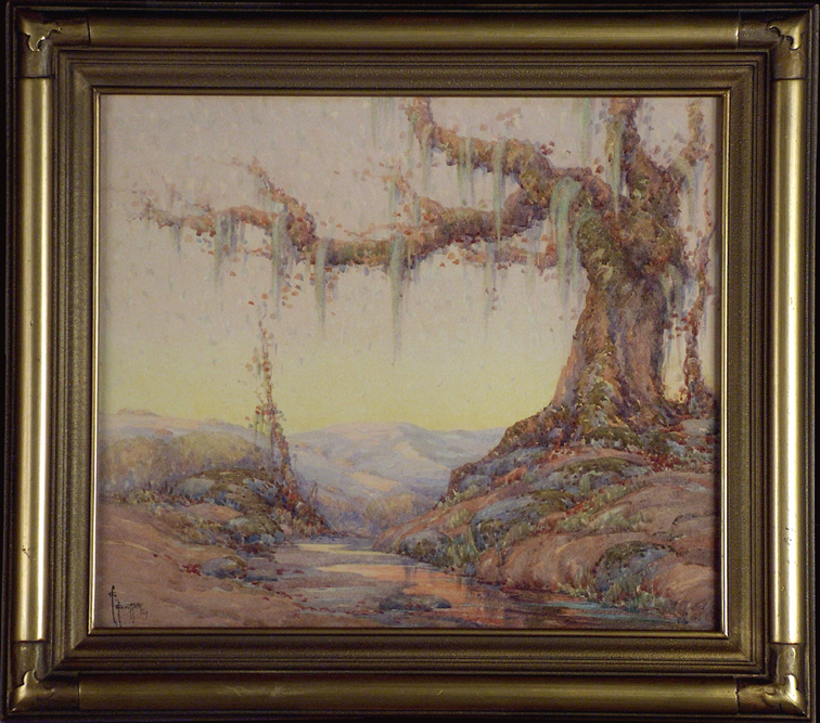 Grace Allison Griffith Oak and Stream with Frame