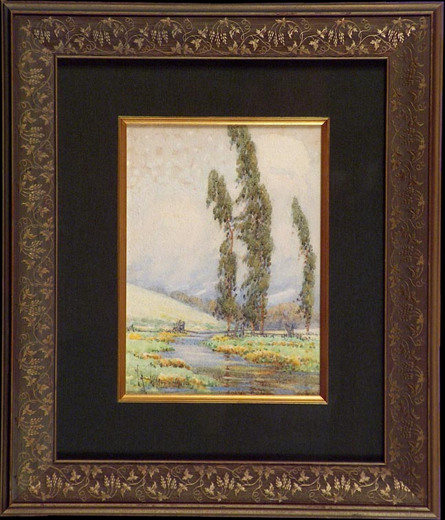 Grace Allison Griffith Poplar Trio and Brook with Frame