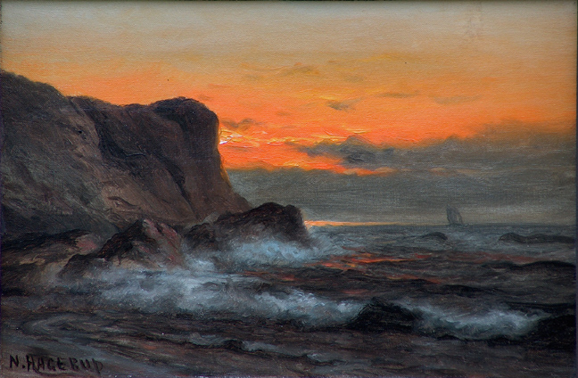 Nels Hagerup Blazing Sunset California Coast