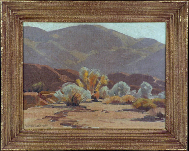 Sam Hyde Harris Cathedral Canyon Sketch with Frame