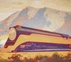 Sam Hyde Harris Sante Fe Railroad Locomotive leaving Santa Barbara Thumbnail