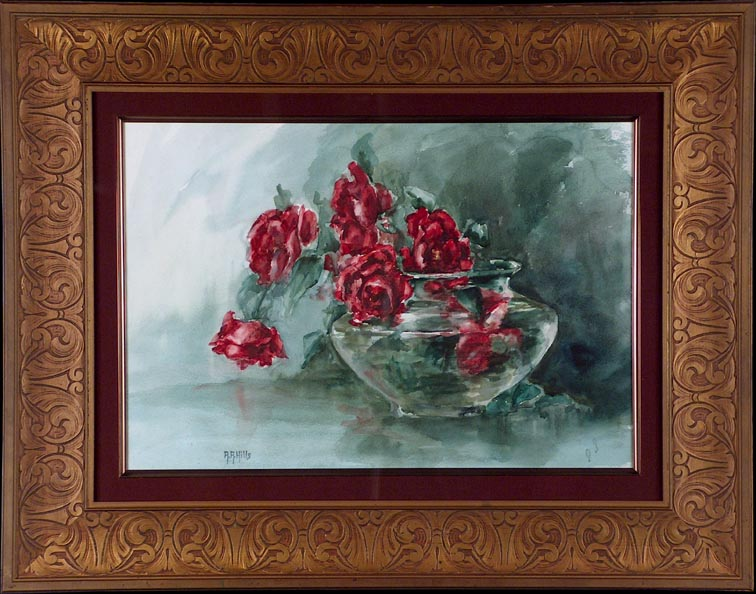 Anna Althea Hills Red Roses With Frame