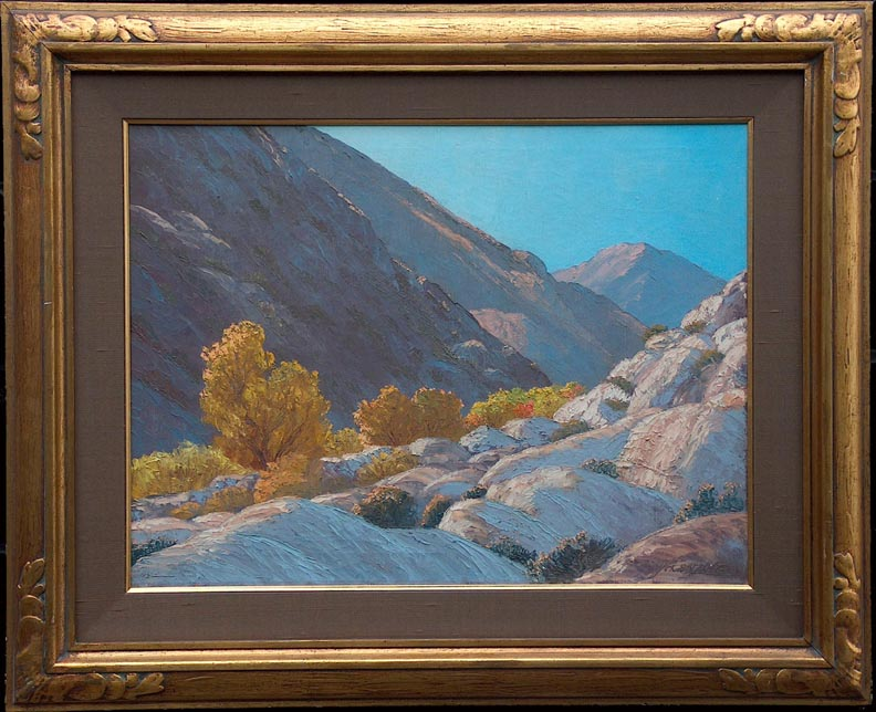 John W Hilton Fall in the Canyon with Frame