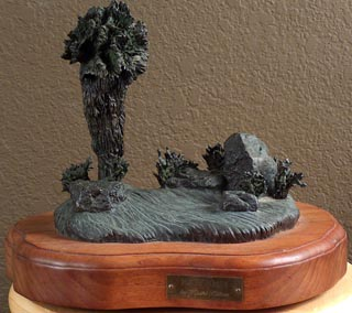 Kathi Hilton Bronze Peaceful Palm