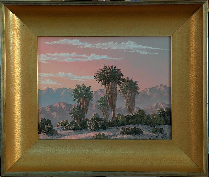 Kathi Hilton Dawn in the Palms with Frame