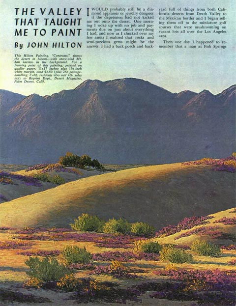 Hilton Painting Desert Magazine March  1963