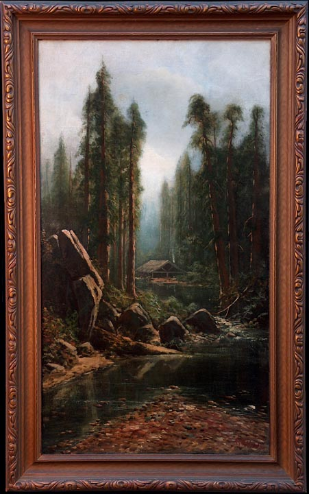 Ransome Gillet Holdredge Cabin in the Redwoods with frame