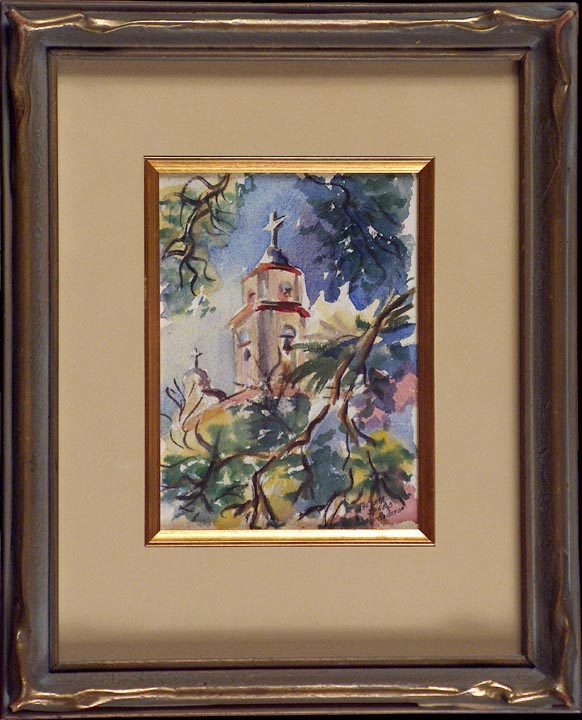 Thelma Speed Houston Bell Tower San Luis Rey with frame