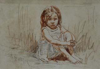 Study for Girl in the Sand Grace Hudson