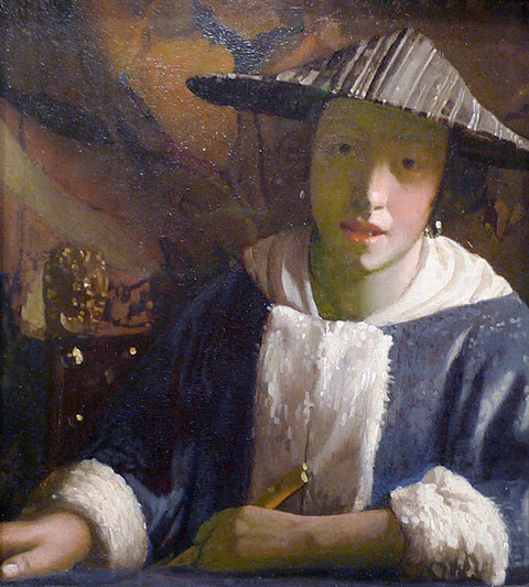 Joahness Vermeer Girl with a Flute