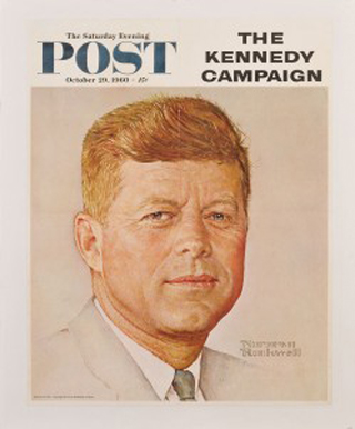 John F Kennedy Saturday Evening Post Cover 1960