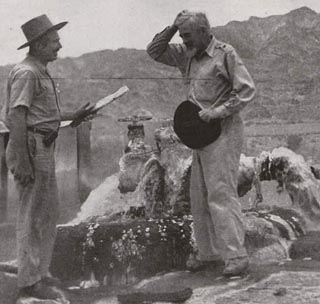 John Hilton at the calcite mine