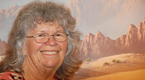 Kathi Hilton at her opening Twentynine Palms Art Gallery Labor Day 2012