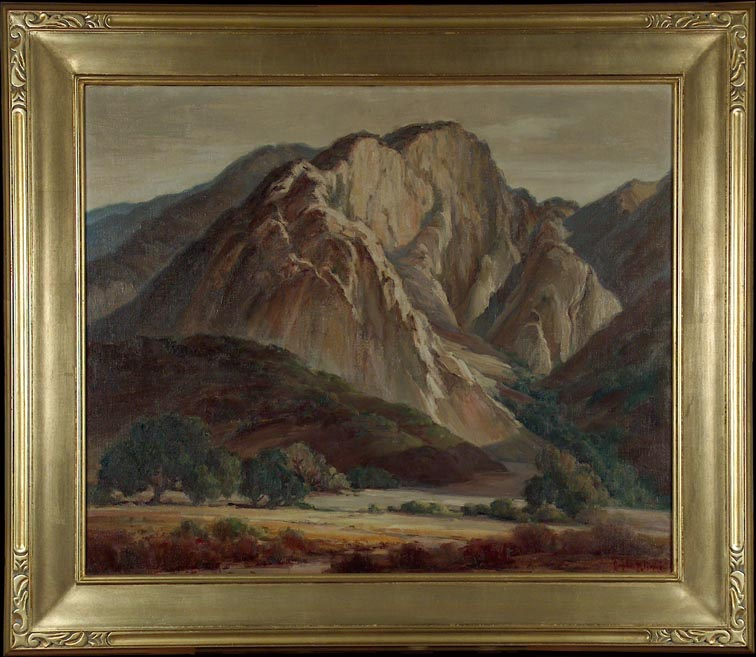 Orpha Klinker Valley Oaks and Mountain with Frame