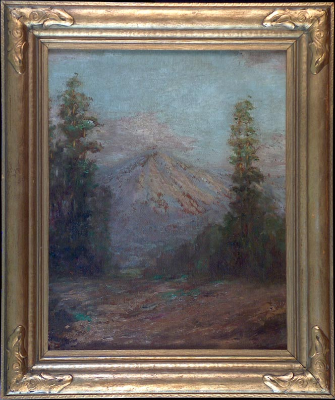 Frederick Stymetz Lamb Mountain and Evergreens with Frame