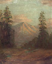 Henry Stymetz Lamb Mountain and Evergreens