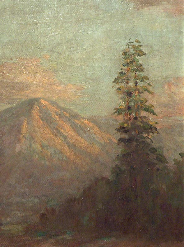 Frederick Stymetz Lamb Mountain and Evergreens Closeup