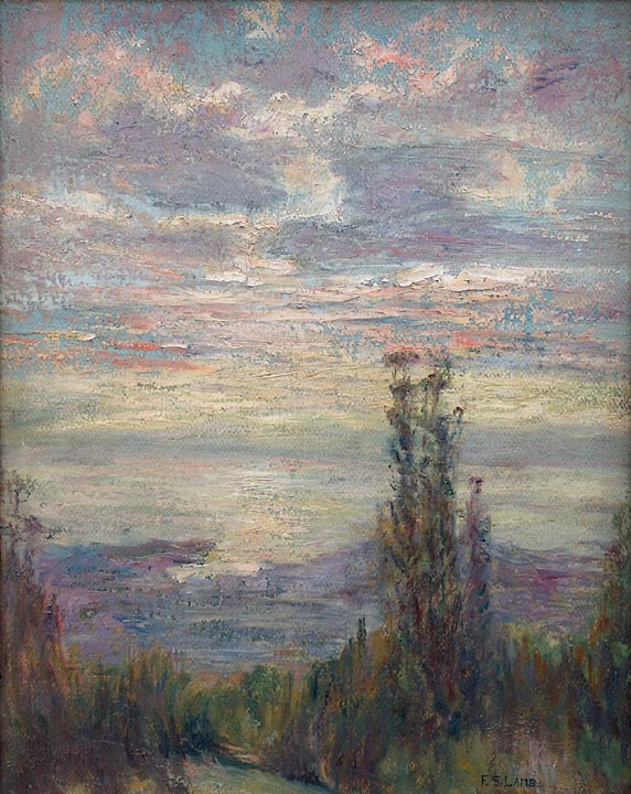 Frederick Stymetz Lamb Imressionist View of SF Bay from the Berkeley Hills