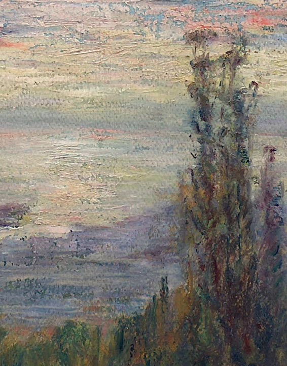 Frederick Stymetz Lamb Imressionist View of SF Bay from the Berkeley Hills closeup