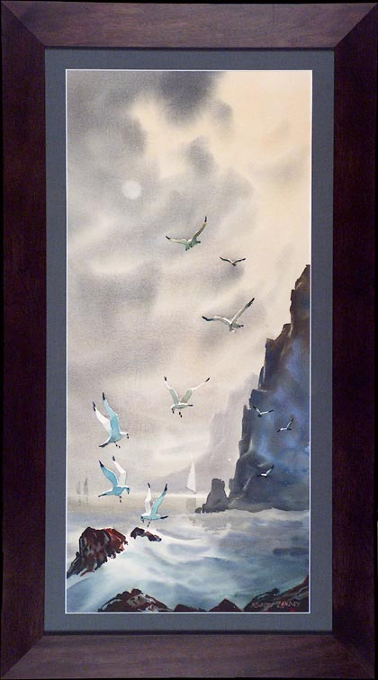 Robert Landry Seagulls with Frame
