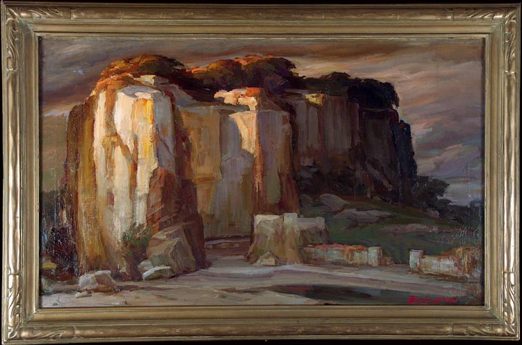Emilio Lanzi Fortress Butte with Frame