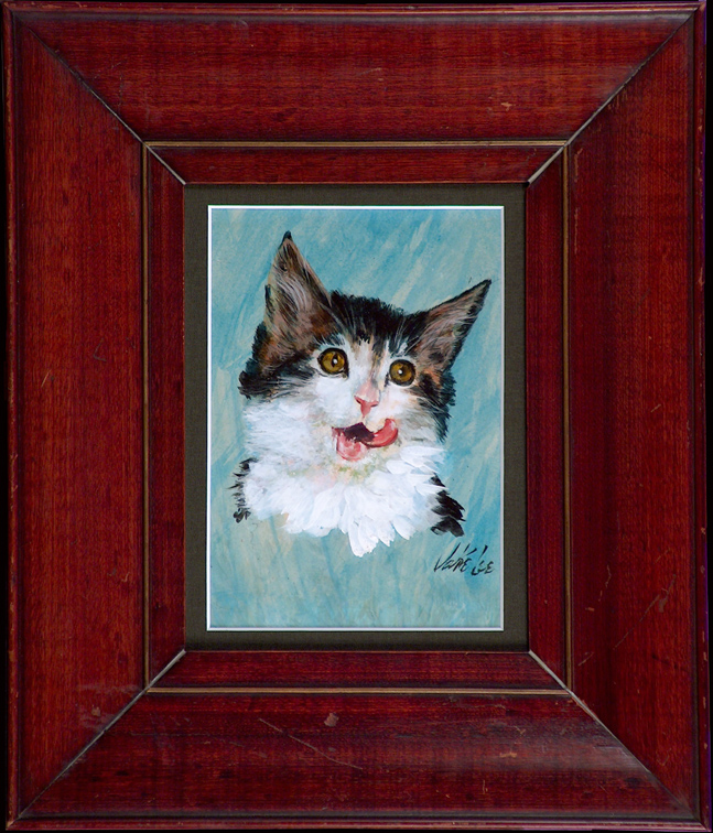 Jake Lee Cat with Frame