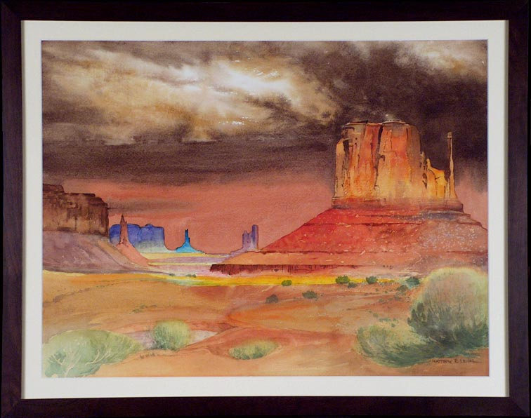 Matthew R Leizer Monument Valley Storm with Frame