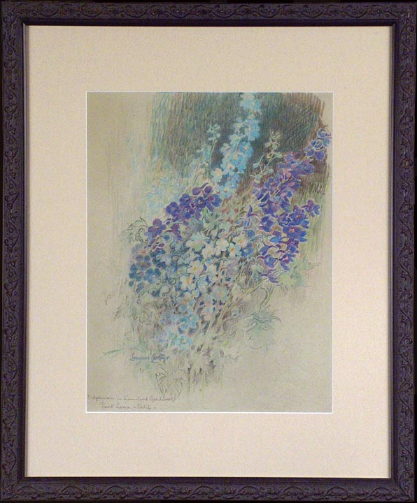 Leonard Lester Delphiniums 1 with Frame