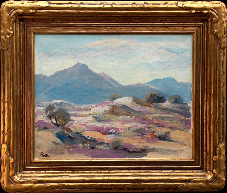 Ralph Love California Desertscape with Frame